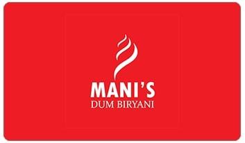 Manis Biryani e-gift card